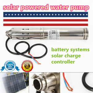Dc 24v Solar Powered Water Pump 4m h Farm Ranch Submersible Bore Hole Deep Well