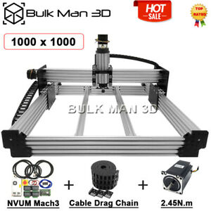 1000 1000mm 4 Axis Workbee Cnc Machine Kit Mach3 Controller Drag Cable Chain