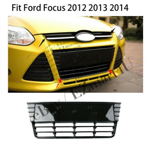 Front Bumper Abs Grille Grill Mesh Replacement For Ford Focus 2012 2013 2014