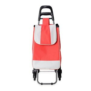 Red Stair Climber Foldable Trolly Dolley Chair And Shopping Cart