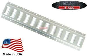 4 Pack E Track Horizontal Galvanized 2 For Truck Trailer Cargo Van Made In Us