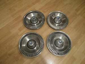 4 Used 64 Ford Galaxie 500 500 Xl Wheelcover Chrome Center Caps Hubcaps
