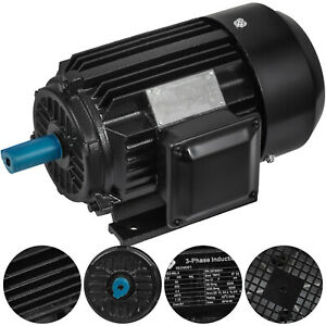 2 Hp Electric Motor 3 Phase 2 Pole 3600 Rpm Tefc 400 Volt B3 Mounting New