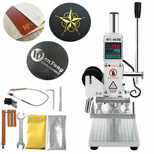 10 13cm Digital Hot Foil Stamping Machine Leather Press Logo Printing Bronzing