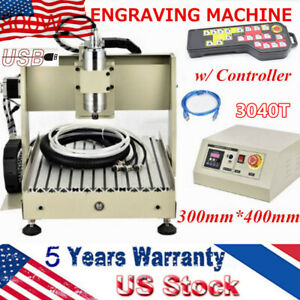 Usb 3040 4 axis Cnc Router Engraver 800w Wood Milling Cutting Machine Controller