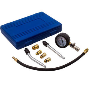 Gas Engine Cylinder Compression Pressure Tester Gauge Adapter Test Kit