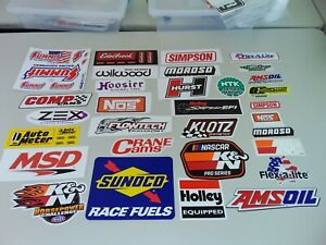 Performance Components Racing Equipment Sponsors Names Vinyl Decal Stickers
