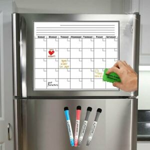 17x11 Monthly Fridge Magnetic Dry Erase Board Planner Refrigerator Whiteboard