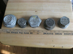 5 Antique Axle Dust Cover Grease Cap Lot Essex Star Whippet Oakland Reo
