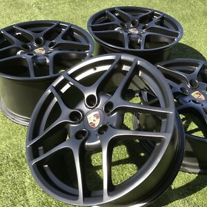 19 911 Carrera 4s Rims Black Porsche 997 S Whees Oem Stock Factory