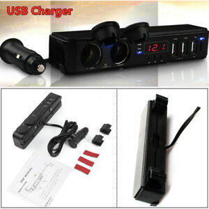 12 24v Car Suv Cigarette Led Cigarette Lighter Socket Usb Charger Multi Function