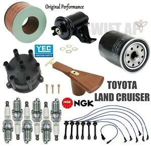 Tune Up Kit Cap Rotor Filters Wire Plugs For Toyota Land Cruiser 4 5l 1996 1997