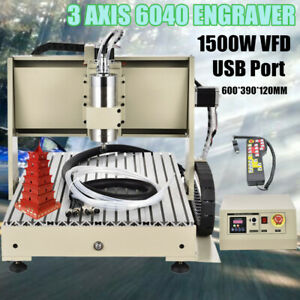 3axis 6040 Cnc Router Engraver Machine Drilling milling 3d Metal wood Cut Rc