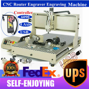 4axis 6090 Usb Cnc Router Engraver 1 5kw 3d Engraving Milling Machine controller