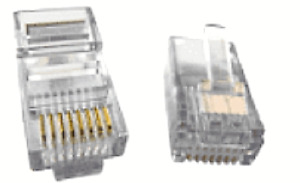 Atp 24 Awg Solid Wire 8 contact Round Mod Phone Plug Part at8x8rcsc 24 50pcs