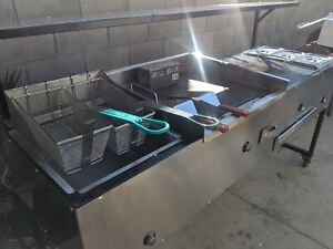 Commercial Grill Top Flat Top Fryer Warmer