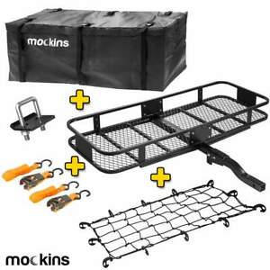 Mockins Hitch Mount Cargo Carrier With Cargo Bag And Net 210 4 5