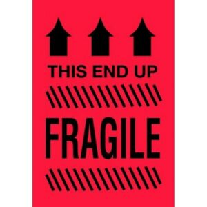 4 X 6 This Side Up Fragile Labels 500 Per Roll