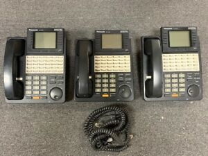 Lot Of 3 Panasonic Kx t7436 Digital Hybrid Office Business Phone In Black