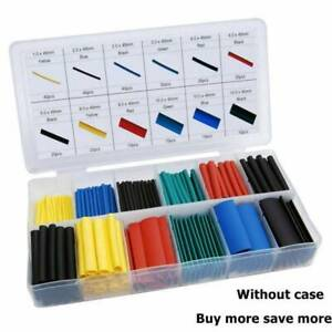 328pcs Cable Heat Shrink Tubing Sleeve Wire Wrap Tube 2 1 Assortment Kit Tools