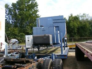 Large Portable Dust Collector Trailer Last Used For Sand Blasting
