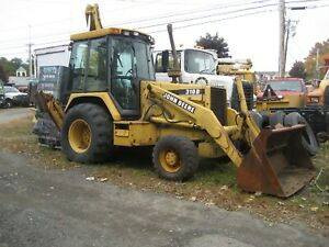 John Deere 310d Backhoe Wheel Loader 4x4 Tractor Cab E stick Muni Repair