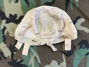 US ARMY MSA MICH ACH HELMET COVER CAMO REVERSIBLE WOODLAND TO DESERT USED