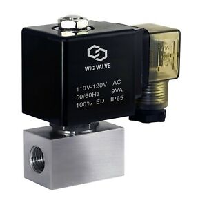 High Pressure Stainless Energy Save Electric Solenoid Valve Nc 1 4 Inch 110v Ac