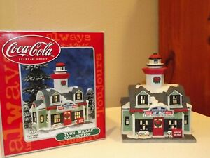 2000 Coca Cola Light House Gift Shop Building Town Square Collection NMC