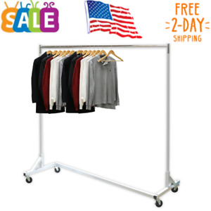 Simple Houseware Industrial Grade Z base Garment Rack 400lb Load 62 Extra Long