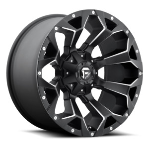 4 20x9 Fuel Black Mill Assault Wheels 5x127 5x135 Jeep Wrangler Ford F150