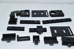 Lot Of 14 Newport Thorlabs Others Optical Rail Mounts Clamps Fixtures