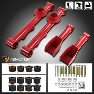 Fit 1979 2004 Ford Mustang Upper Lower Rear Control Arms Red W Bushing Kit