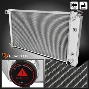 For 70 76 Chevy Monte Carlo 3 core Row Light Aluminum Cooling Racing Radiator
