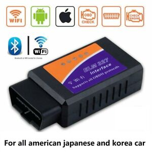 Elm327 V1 5 Obd2 Car Wifi Interface Diagnostic Tool Scanner For Android Ios