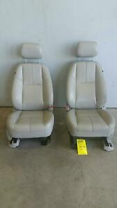 2012 13 Gmc Sierra Leather Front Seats Titanium In Color Used Oem