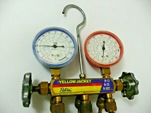 Ritchie Yellow Jacket Test And Charging Manifold Gauges R12 r22 r502 4825