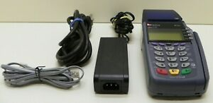 Verifone Omni 5100 3730 Vx510 Card Reader With Power Adapter Working 100