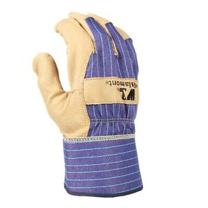 Heavy Duty Grain Leather Work Gloves With Safety Cuff Leather Palm Medium