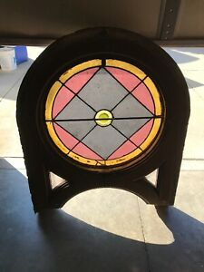 Mar 2 Antique Round Rondell Stained Glass Window 45 X 4 36 Inch Circle