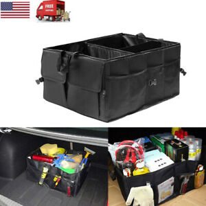 Cargo Organizer Foldable Multi Purpose Storage Box Bag Case Car Trunk Rv Suv