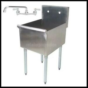 One Compartment Commercial Utility Sink 18 X 21 X 14 Bowl Stainless Steel