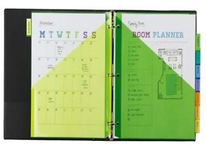 Avery 8 tab Plastic Binder Dividers With Pockets Insertable Multicolor Big Tabs