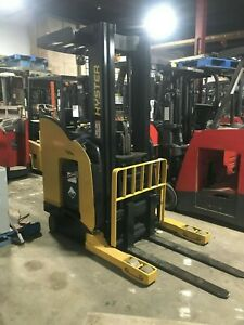 Hyster Forklift Reach Truck 3500 203 Lift W battery Chgr 90 Tall hd