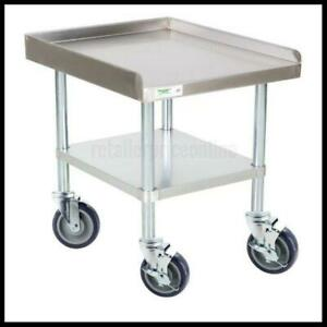 Work Table 30 X 24 16 gauge Stainless Steel Equipment Stand With Casters