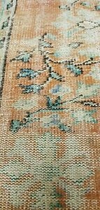 Antique Cr1900 1939 S Muted Dye Wool Pile Primitive Oushak Round Rug 6x6ft