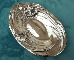 Sterling Silver Serving Bowl Tray By Mauser 9 1 4 X 6 3 8 Female Nude