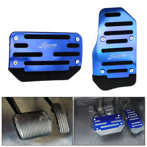 Universal Non Slip Automatic Gas Brake Foot Pedal Pad Cover Blue Car Accessories