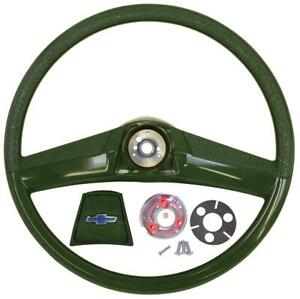 1969 1970 1971 1972 Chevy Truck 15 Inch Smaller Classic Green Steering Wheel Kit