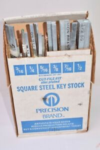 Precision Brand Cut File Fit Square Steel Key Stock Set 3 16 X 1 2